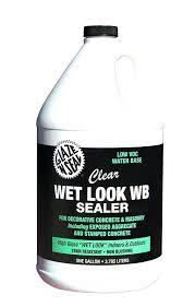 outdoor acrylic paint sealer wet look water based sealer