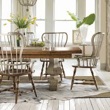 furniture sanctuary 7 piece refectory trestle dining set with spindle chairs hayneedle