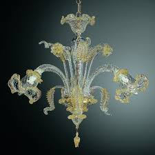 c grande 3 lights murano chandelier transpa gold color