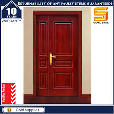 china interior modern frosted glass insert solid wood door