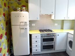 50 s kitchen with smeg fridge
