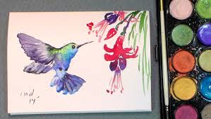 Easy Painting Paint A Quick Hummingbird In Watercolors Quick Easy Youtube