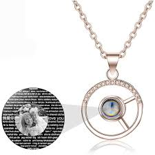 Personalized Light Projective Photo Necklace Amazon Com Personalized Customized Photo Necklace 925