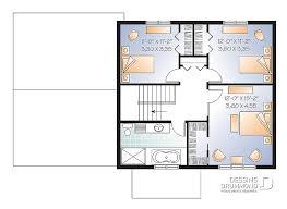 Plan Maison 3 Chambres 15 Sbain Garage 2779 V1 Dessins Drummond