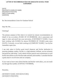Letter Of Recommendation For Co Worker 18 Sample Letters