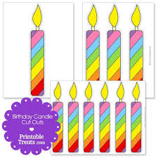 Printable Birthday Candle Cut Outs From Printabletreatscom