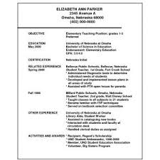 Sample Resume Objective For Math Teacher Archives Crossfitrespect