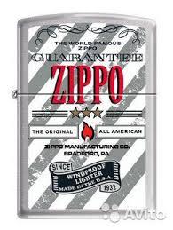 <b>Зажигалка Zippo Guarantee</b> купить в Москве | Хобби и отдых | Авито