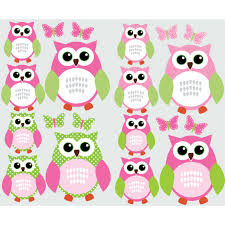pink and green owl wall stickers with erfly wall decor for nursery for kids rooms