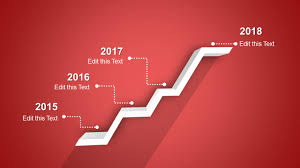Red Ppt 4 Stages Shelf Timeline Template For Powerpoint
