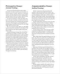 Essay Persuasive Examples Argumentative Essay Example 9 Samples In Pdf Word