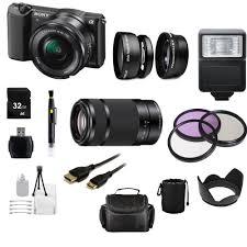 sony a5100. sony alpha a5100 mirrorless digital camera with 16-50mm lens \u0026 e 55- n
