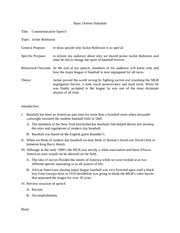 sample college jackie robinson essay outline process paper jackie robinson a national hero