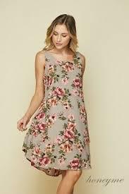 Honeyme Size Chart New Taupe Floral Sleeveless Honeyme Dress S 2xl 3xl