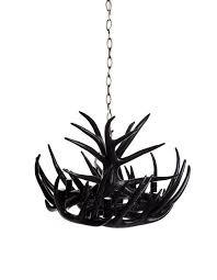 black chandelier lighting. Modern - Black Antler Chandelier Six Light Lighting L