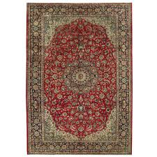 persian hand knotted isfahan wool rug
