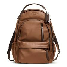 where can i lyst coach thompson leather backpack in brown for men 1a0c4 90d22