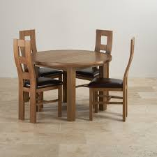 rustic oak table and chairs knightsbridge round extending dining table leather chairs on lovable oak dining