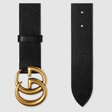 gucci. gucci leather belt with double g buckle detail 2