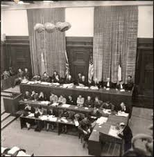 after wwii the crimes committed were brought to trial in  art during the holocaust nuremberg the judges bench during the first nazi