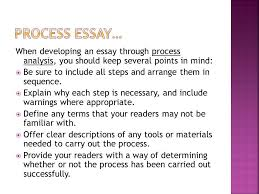 process how to chronological order essay ppt  4 process essay