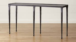 iron console table. Silviano Iron Console Table In Tables + Reviews | Crate And Barrel O