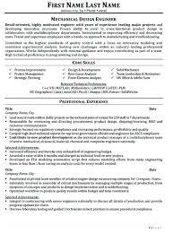 Sample Mechanical Design Engineer Resume Topshoppingnetwork Com