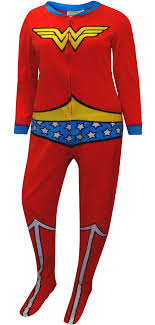 plus size footed pajamas webundies com wonder woman fleece junior cut one piece footie pajama