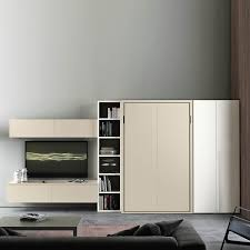 multifunction living room wall system furniture design. Bed Transforming In To The Wardrobe Studio Flat Furniture Set Single Guest Room Multifunction Living Wall System Design M