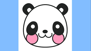 Small Picture How to draw a Cute Panda Emoji Coloring Pages for Kids Panda