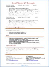 Social Worker Cv Template Tips And Download Cv Plaza