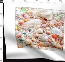 Fabric By The Yard Seashell Collection 2 X 2 Wallpaper Poster