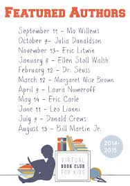 author list for the virtual book club for kids 2018 2018