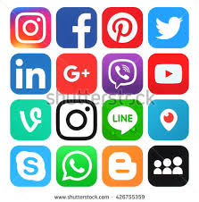 social media logos. kiev, ukraine - may 26, 2016: collection of popular social media logos printed i