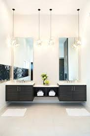 hanging bathroom lighting. Pendant Bathroom Lights Contemporary Master With Limestone Tile Floors Light Double Sink . Hanging Lighting