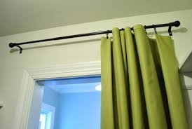making no sew bedroom curtains with fabric and hem tape young regarding curtain rods at target