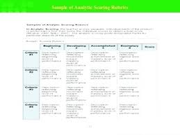 Scoring Rubric Template Scoring Rubric Template Blank Word Great Templates Example