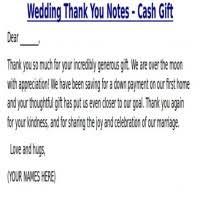 sle thank you note for wedding gift money wedding venues hot springs arkansas deweddingjpg