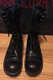 details about vintage corcoran military field combat cap toe leather jump boots size 9 5 d