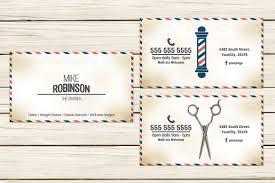 Barber Business Cards Design Barbershop Business Card
