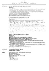 Supply Chain Senior Manager Resume Samples Velvet Jobs