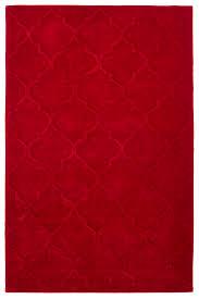 red trellis pattern rug 100 acrylic large hand