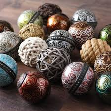 Orb Decorative Ball Decorative Spheres Copper And Turquoise Blue Handmade Accent Balls 42