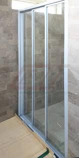 shower screen central aluminium glass