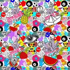 Fotobehang Sticker Bomb Foto4art