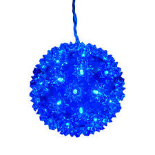 Super Sphere Lights Ge 5 5 In Hanging Super Sphere Light Display With Blue Led