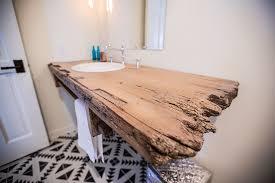 floating reclaimed wood bathroom sink base