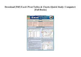 Quick Study Charts Download Pdf Excel Pivot Tables Charts Quick Study