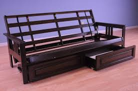 black wood futon frame full