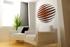 Decorative Wood Designs interiors with round paintings Decorative Wood Abstract Interior 1